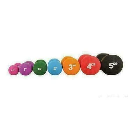 Fitness Mad Dumbbells Neoprene Training Weights Home Exercise Fitness COLOUR